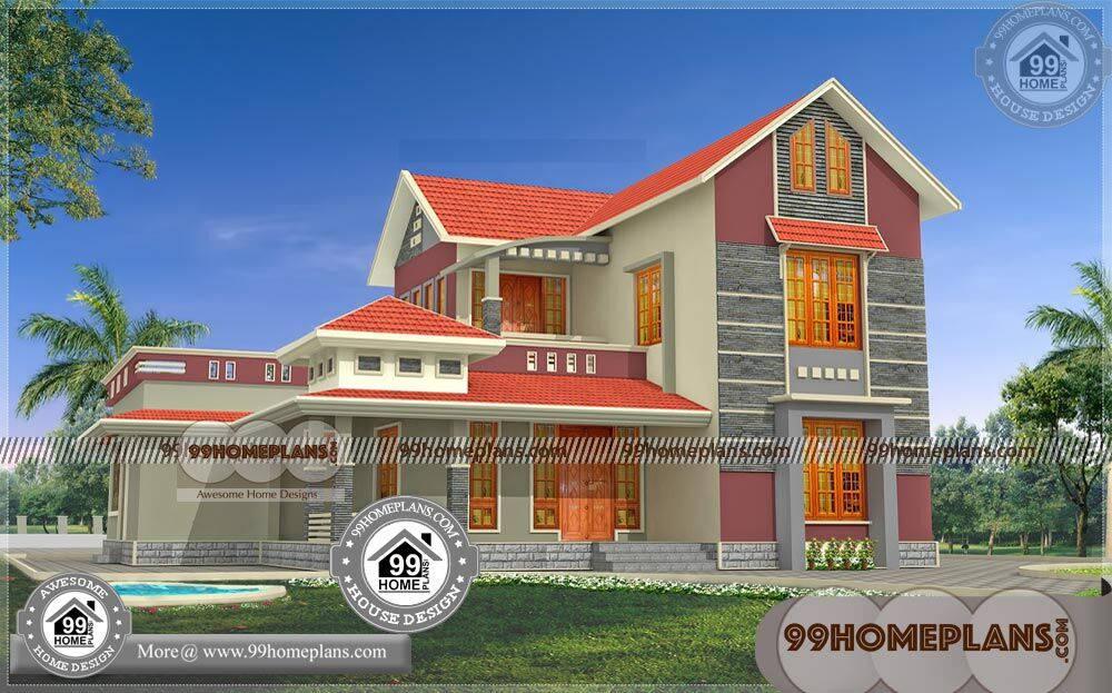 Small Beautiful Low Cost House Plan Design 80+ Two Floor Home Plans