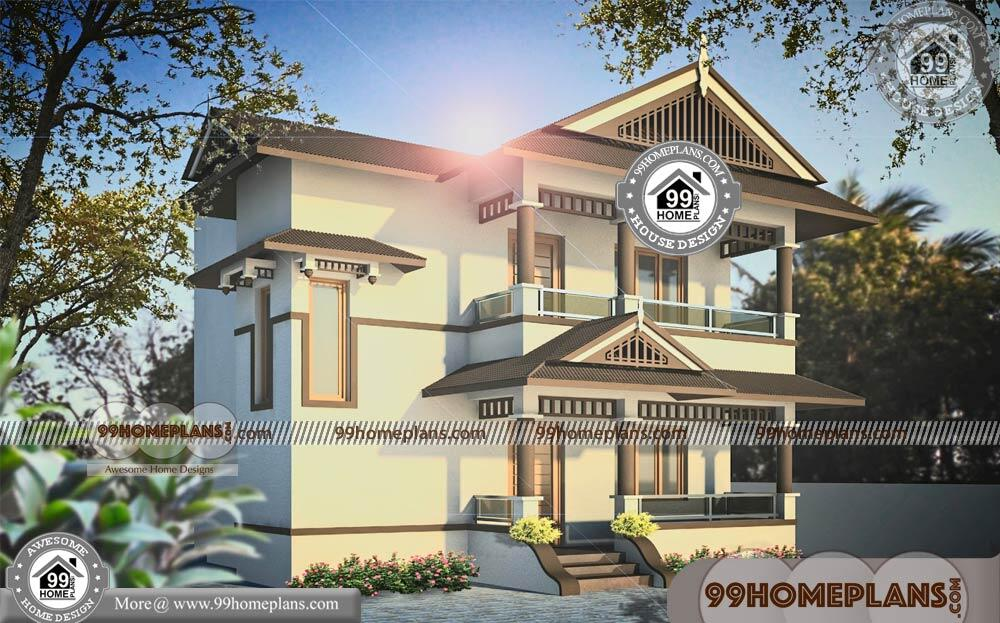 Small Elevated House Plans & Modern Two Story Homes Collections