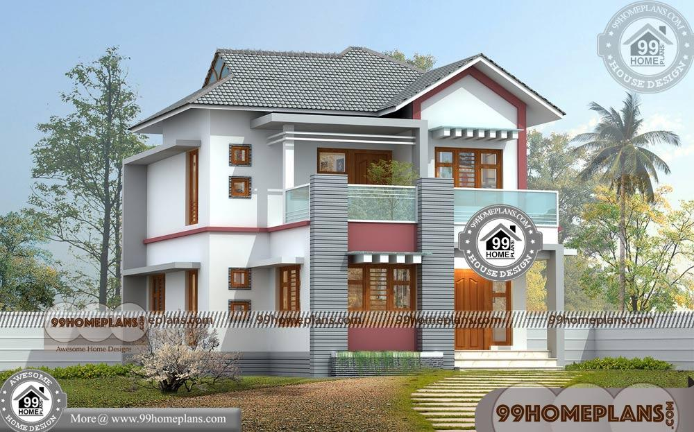 Small Simple House Design 50 Two Storey House Plans Online Designs