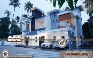 South Indian Home Design Collections 90+ Two Storey Small House Plans