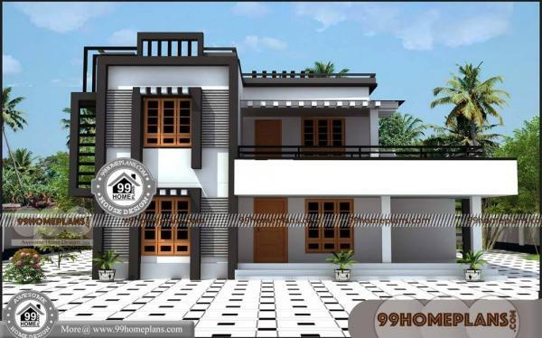 South Indian House Elevation 50 Latest Two Storey House