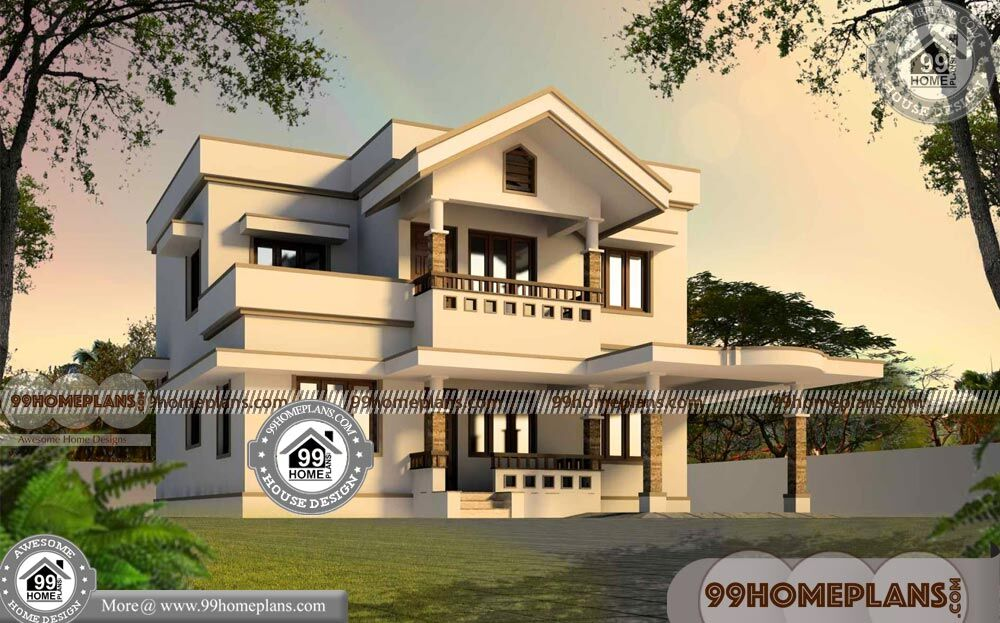 Two Story Townhouse Floor Plans & 65+ Small House Plans In Kerala