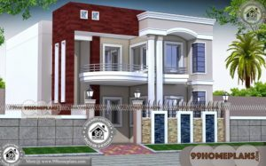Unique Home Plans 100+ Two Storey Homes With Rear Balcony Designs