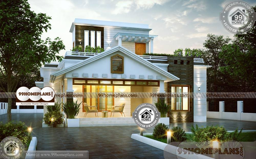 1 Story Home Designs & 60+ Contemporary Style House Plans In Kerala