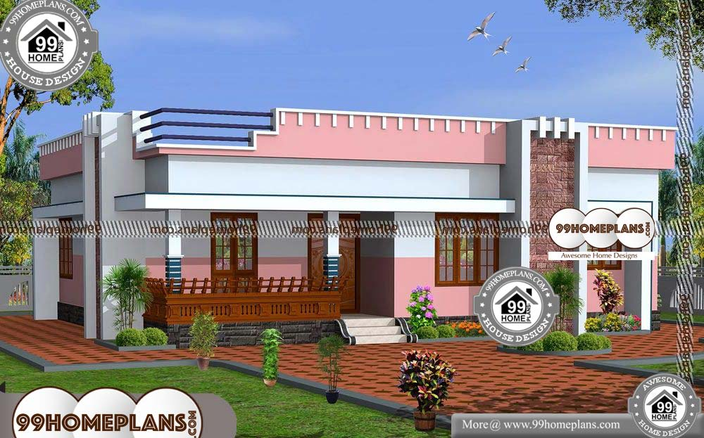 1800 Sq Ft House Plans in Kerala - One Story 1230 sqft-HOME