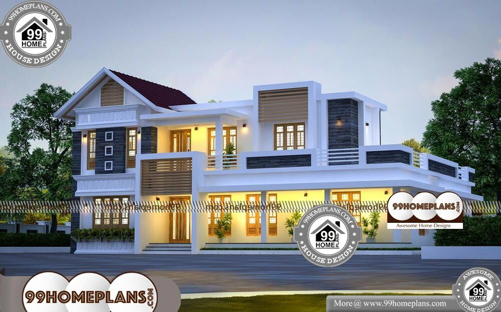2 Family House Plans Narrow Lot - 2 Story 2970 sqft-Home