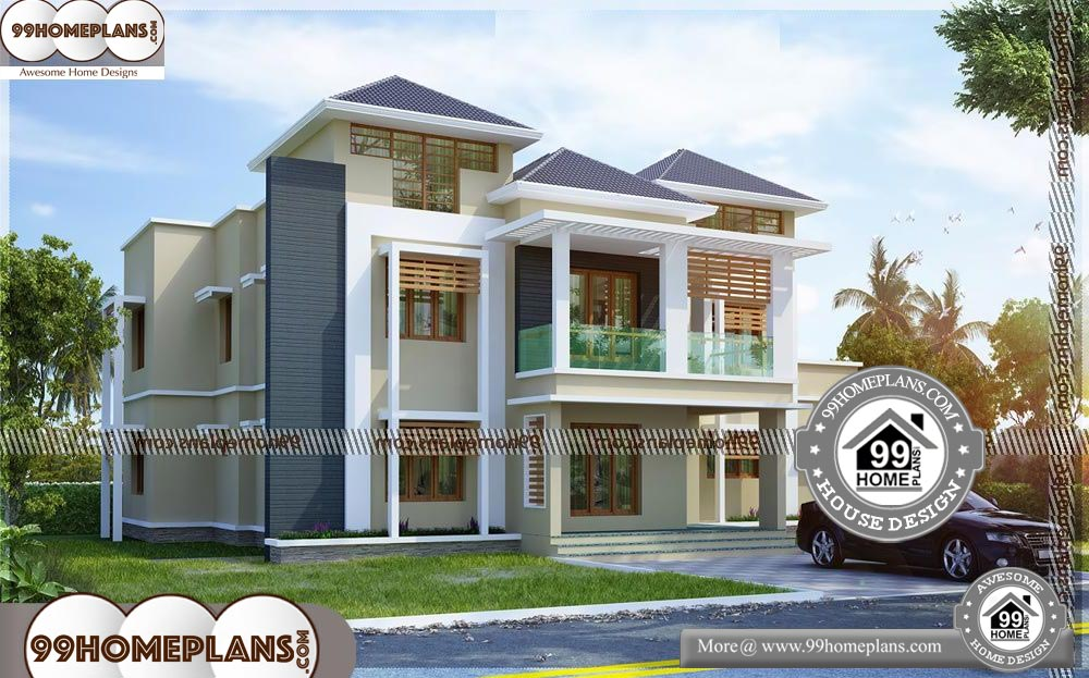 2 Story House Plans with Balcony - 2 Story 3900 sqft-HOME