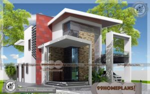 2 Storey Cottage Plans & 100+ Modern Contemporary Homes Designs