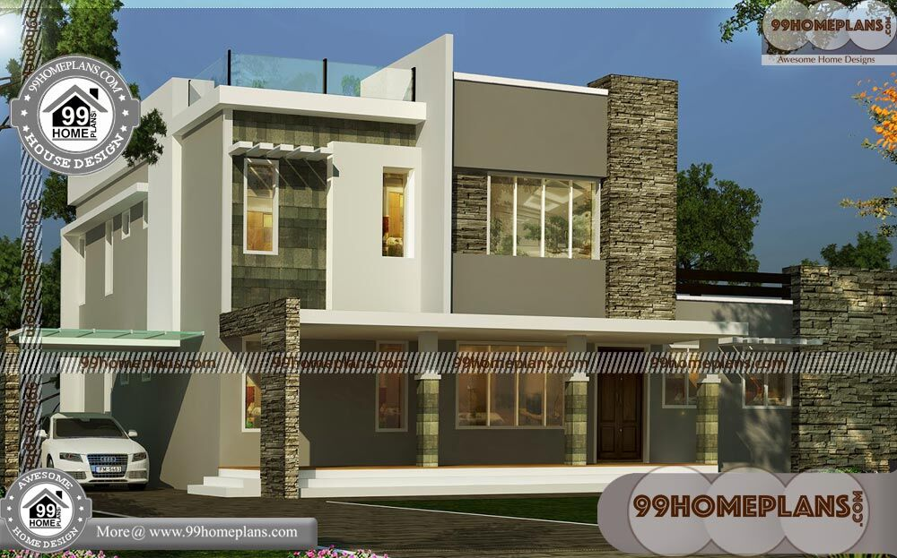 2 Storey Home Plans & 80+ Small Contemporary House Plans In Kerala