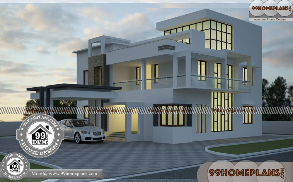 2 story house with balcony 60 contemporary style kerala homes - 10+ Modern Small Two Storey House Plans With Balcony Pictures