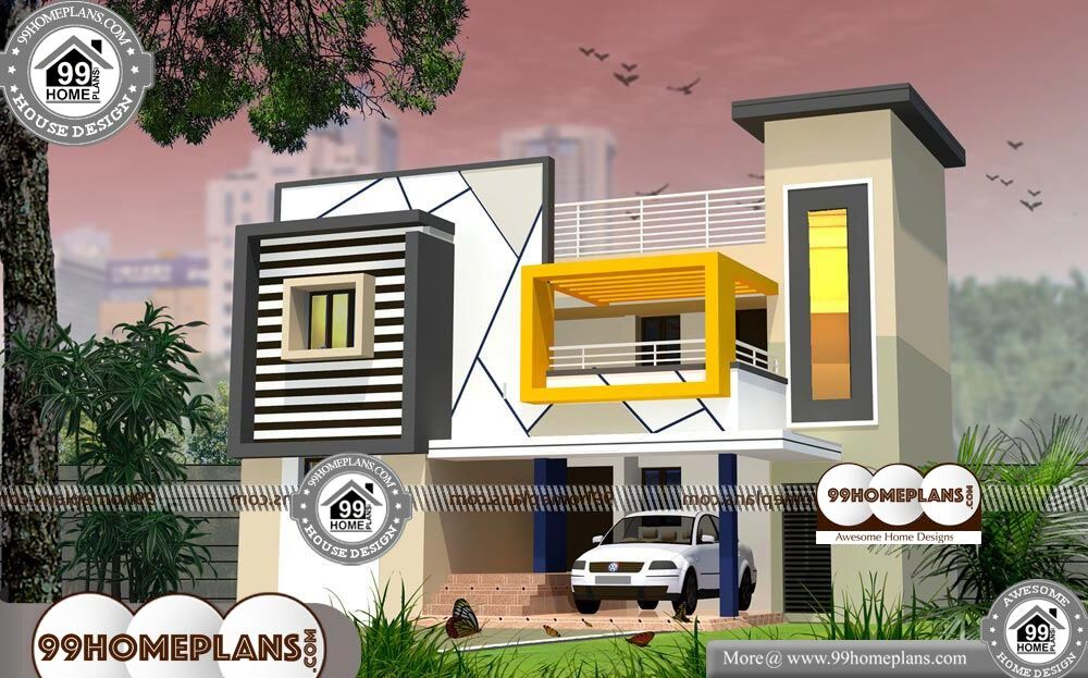 4 Bedroom Narrow Lot House Plans - 2 Story 2350 sqft-Home