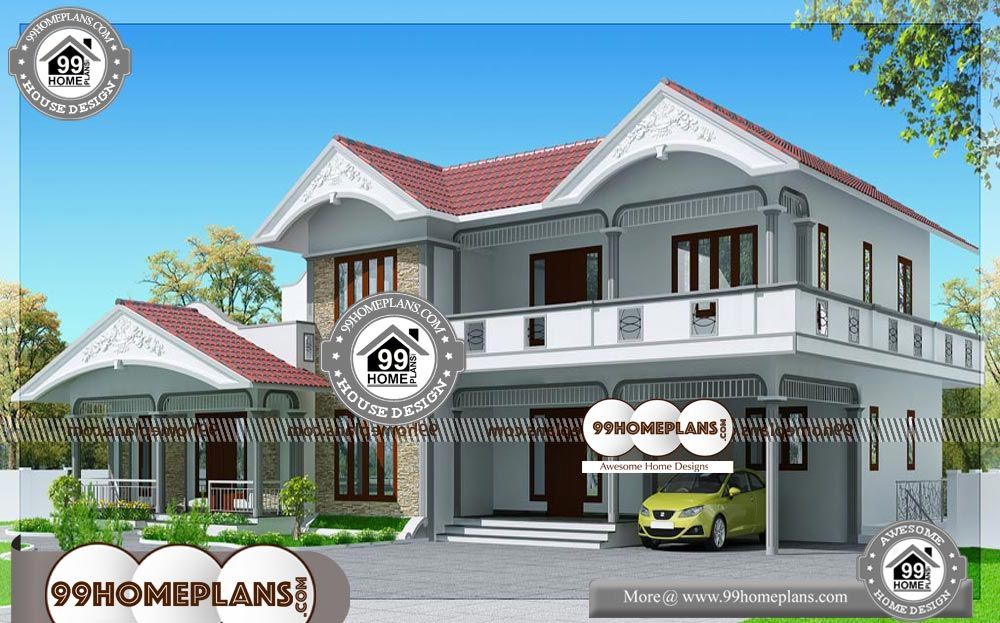 4 Bedroom Simple House Plans - 2 Story 2990 sqft-Home