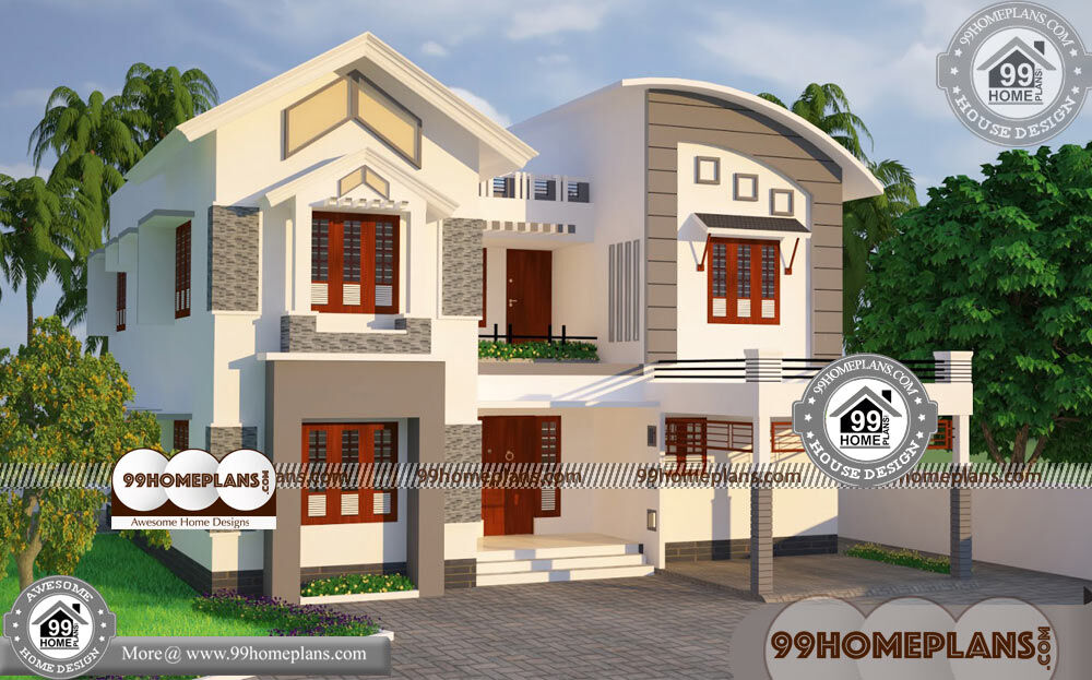 50 X 100 House Plans & 50+ Beautiful Two Storey House Designs Online