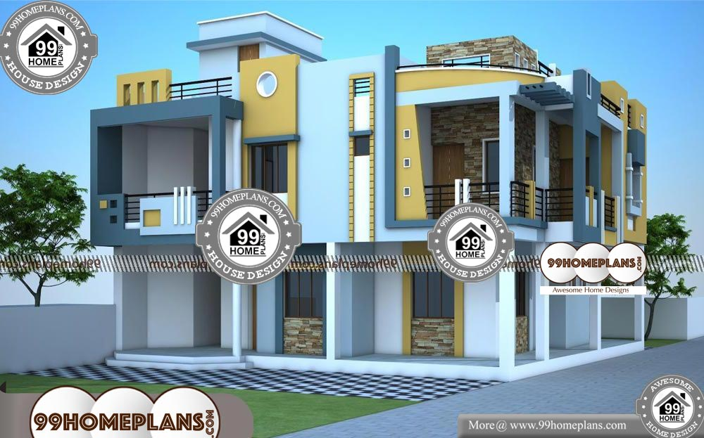 Best Contemporary House Plans - 2 Story 3200 sqft-HOME