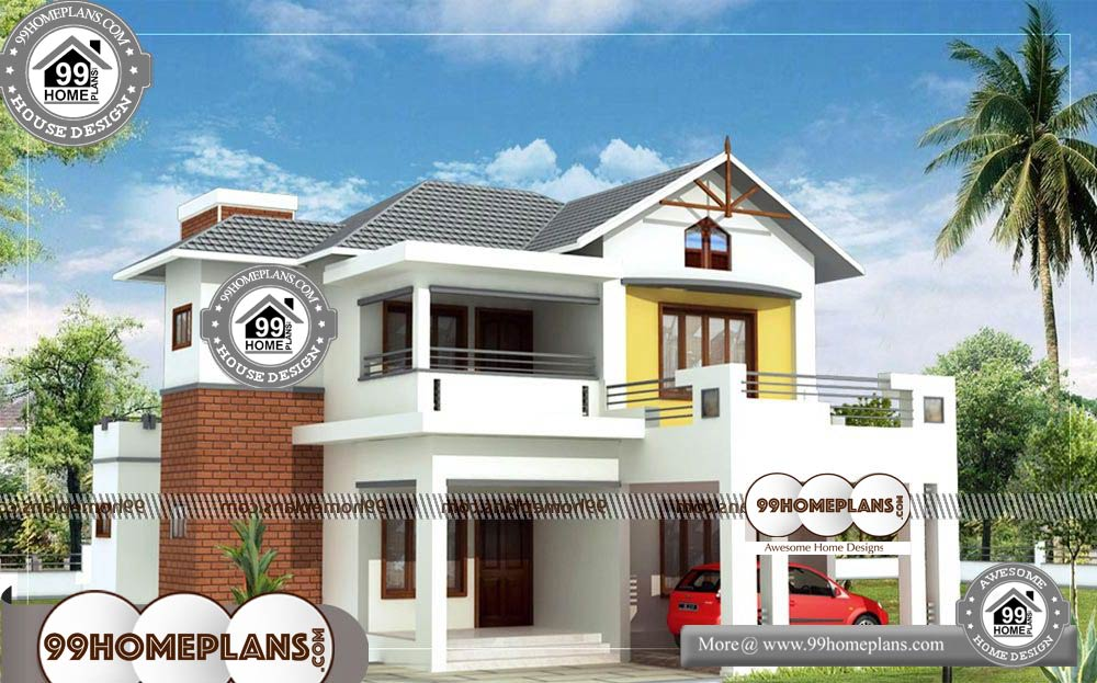 Best Floor Plans For Small Homes 80 Two Storey House With Balcony