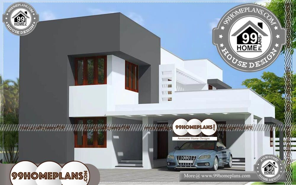 Best House Plans for Narrow Lots - 2 Story 1600 sqft-Home