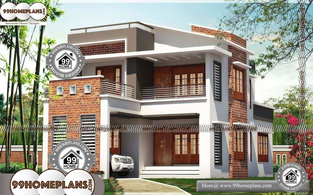 Best Modern Home Plans - 2 Story 1735 sqft-HOME