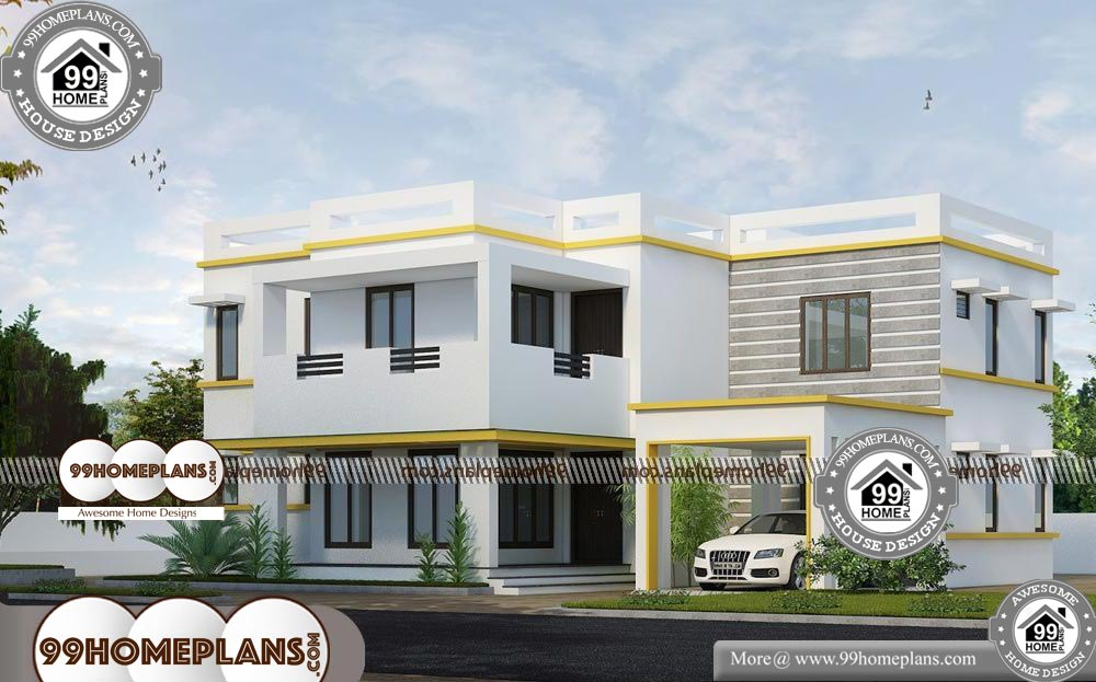 Bungalow House Plans with 4 Bedrooms - 2 Story 2370 sqft-HOME