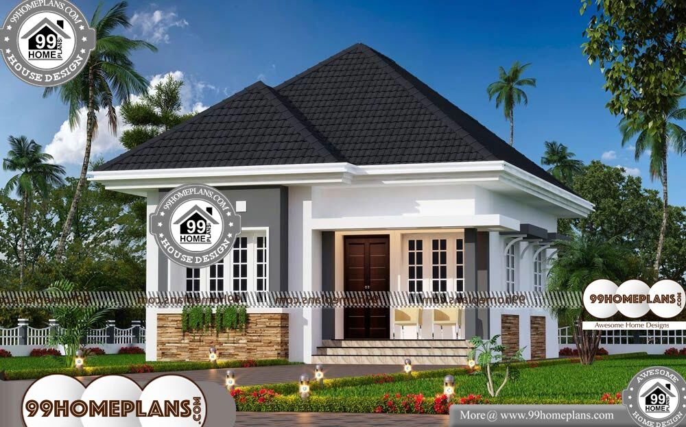 Contemporary House Plans One Story - One Story 550 sqft-Home