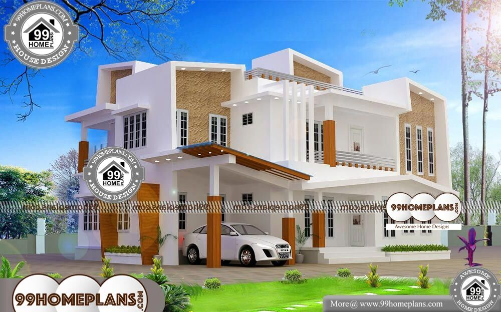 Contemporary Two Storey House Designs - 2 Story 2618 sqft-Home