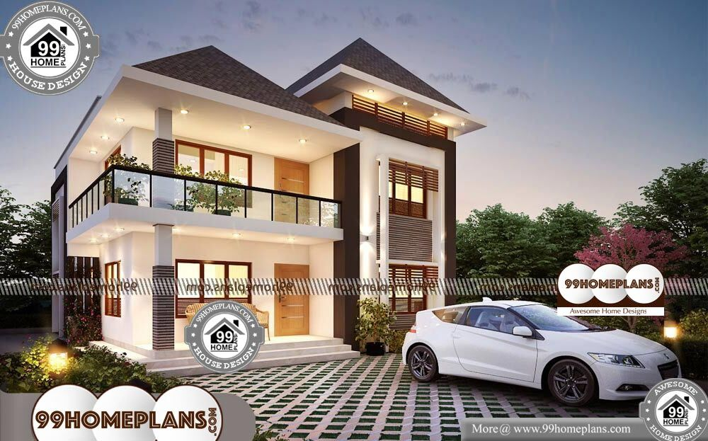 Design of Simple Indian Houses - 2 Story 1971 sqft-Home