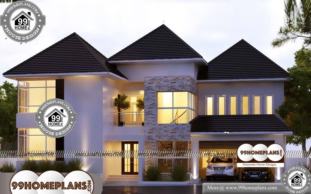 Efficient Small House Plans - 2 Story 3600 sqft-Home
