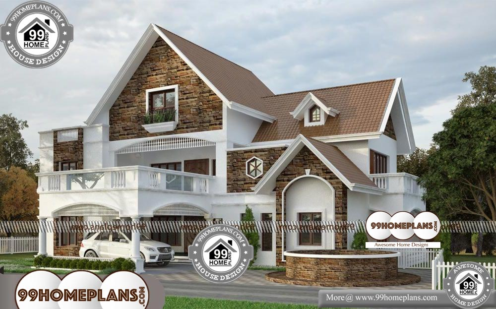 Five Bedroom House Plans - 2 Story 5408 sqft-HOME