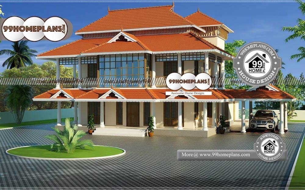 Front Design of Indian House - 2 Story 4200 sqft -Home