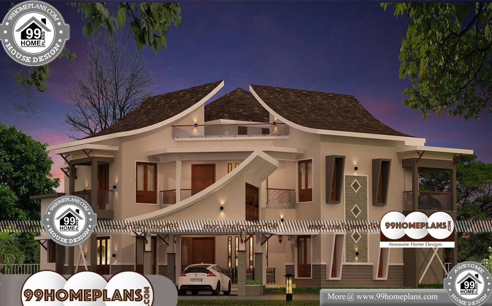 House Plan Designs with Photos - 2 Story 3454 sqft-Home