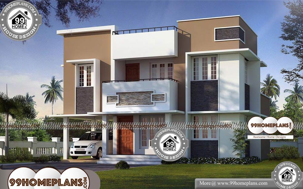 House Plan in Kerala Style with Photos - 2 Story 2000 sqft-HOME