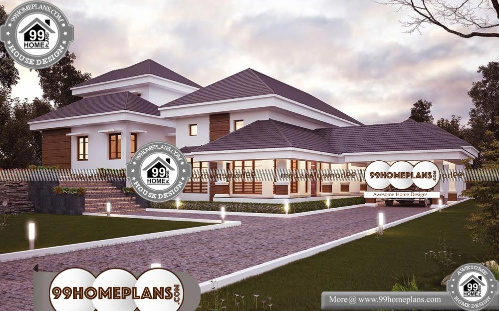 Indian Simple Home Front Design - One Story 4573 sqft-Home