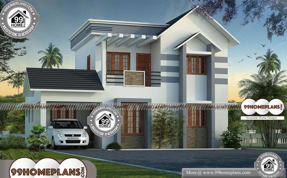 Kerala House Photos and Plans - 2 Story 1450 sqft-HOME