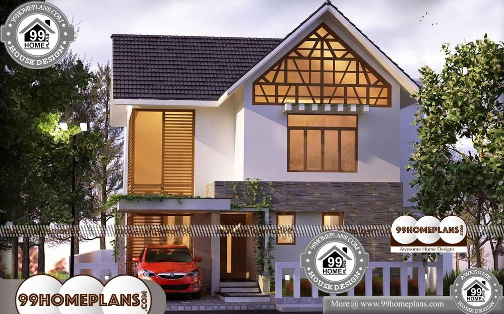 Kerala Style House Design - 2 Story 1400 sqft-Home