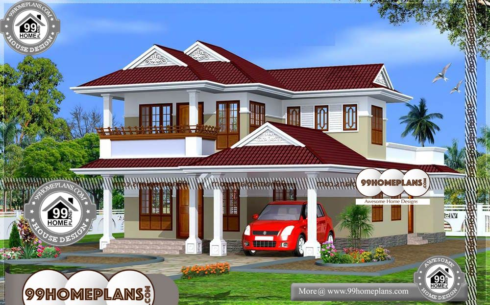 Kerala Style House Floor Plans - 2 Story 2130 sqft-Home