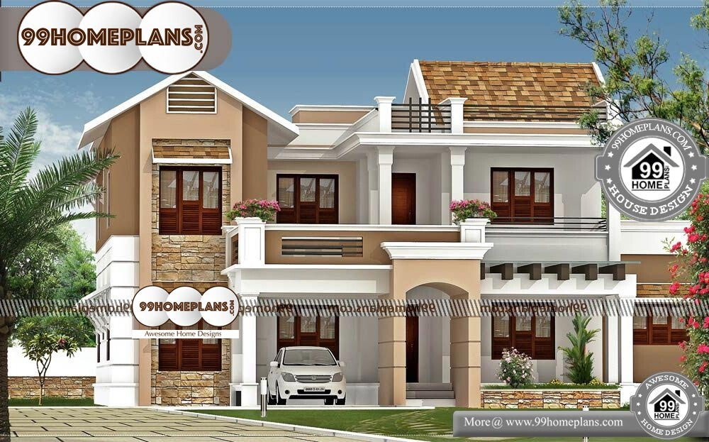 Latest House Models In India 70 Double Storey Modern House Designs