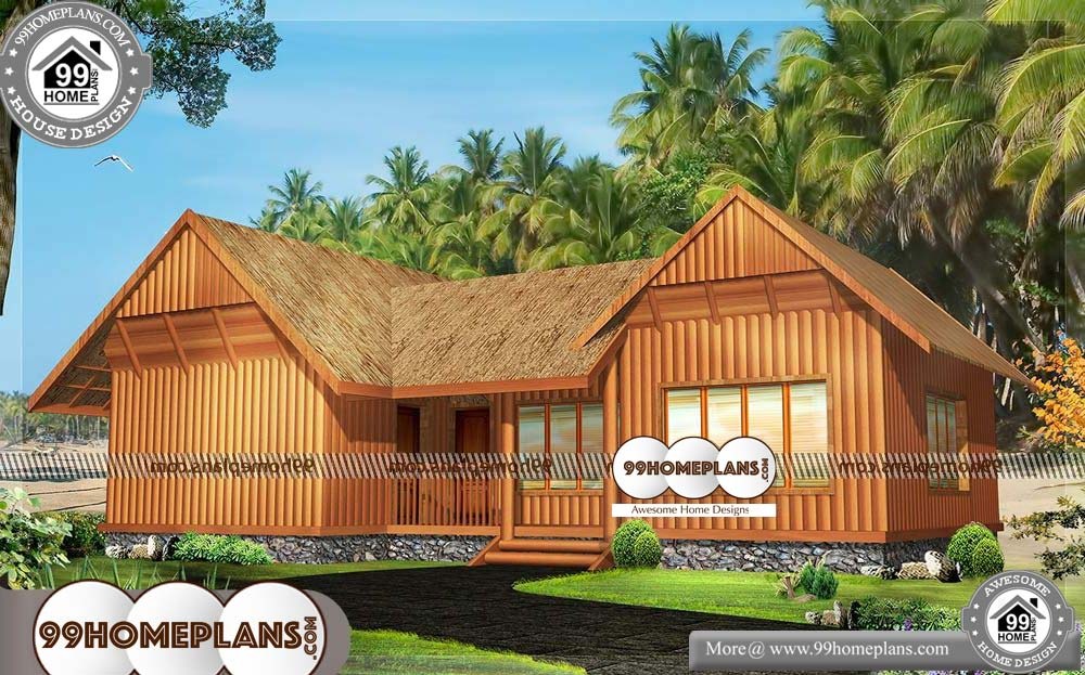 Log Home Floor Plans - One Story 1700 sqft-HOME