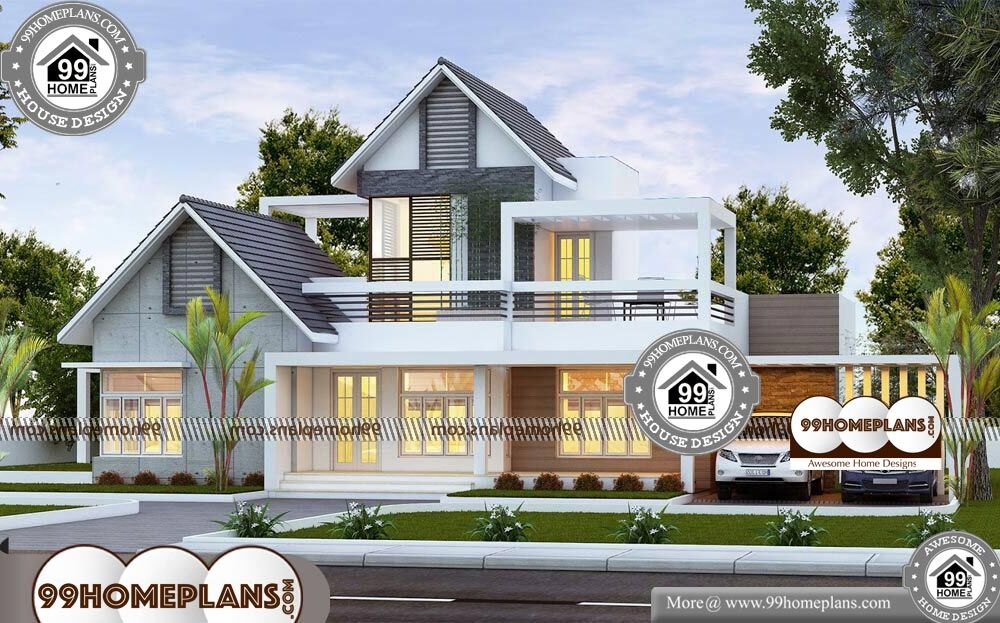Low Construction Cost House Plans - 2 Story 2400 sqft-Home