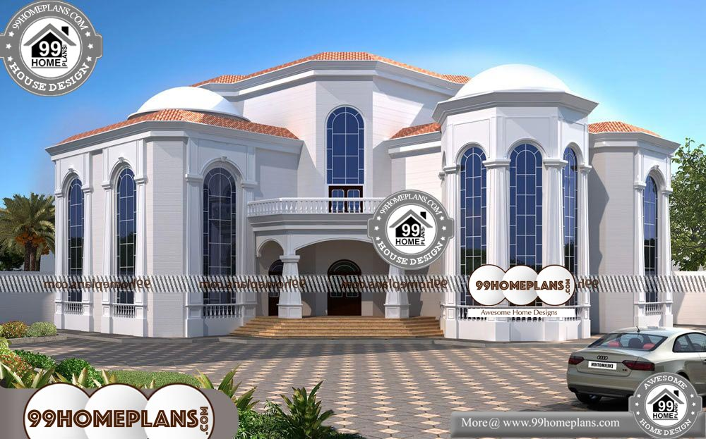 Low Cost Bungalow House Design - 3 Story 6953 sqft-Home