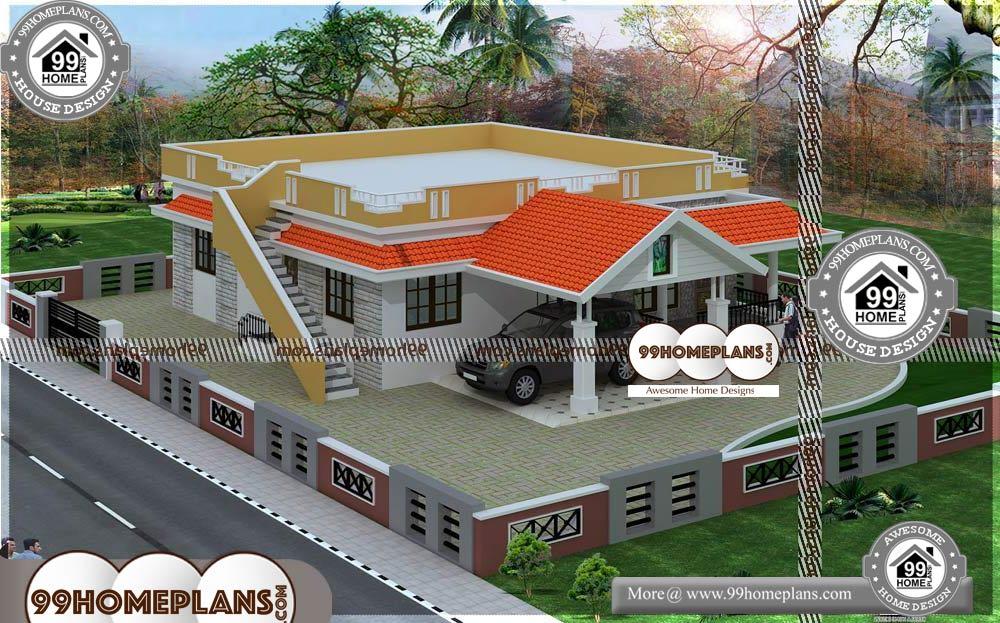Modern House Designs Single Story - One Story 1615 sqft-HOME