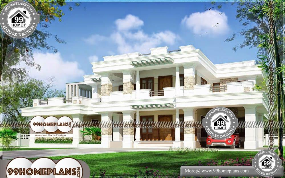 One Floor Small House Plans - 2 Story 4379 sqft-HOME