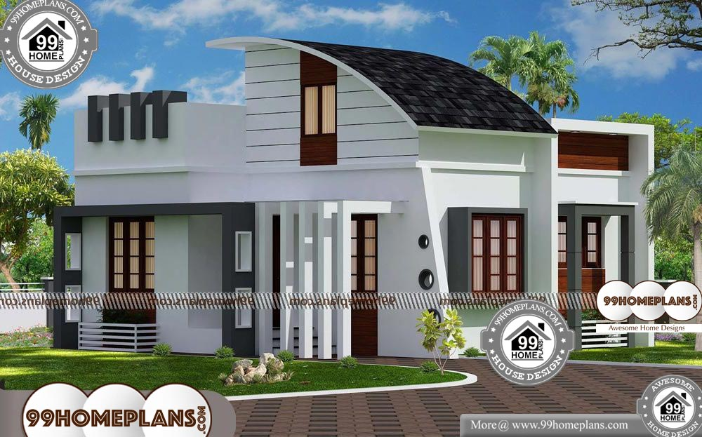 One Story House Plans with Porch - One Story 600 sqft-Home