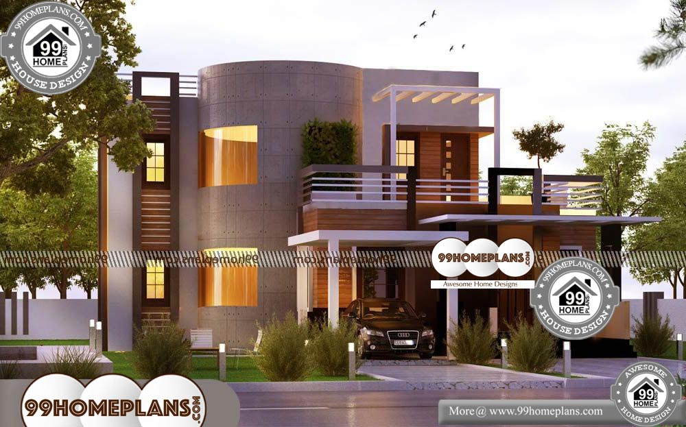 Plan Modern House Design - 2 Story 3560 sqft-HOME
