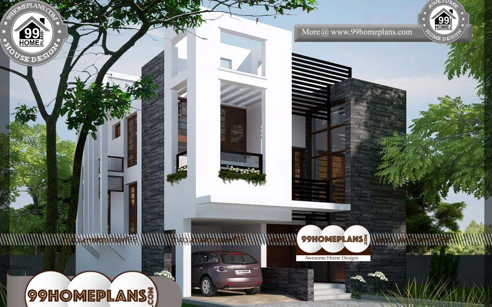 Simple Economical House Plans - 2 Story 1450 sqft-Home