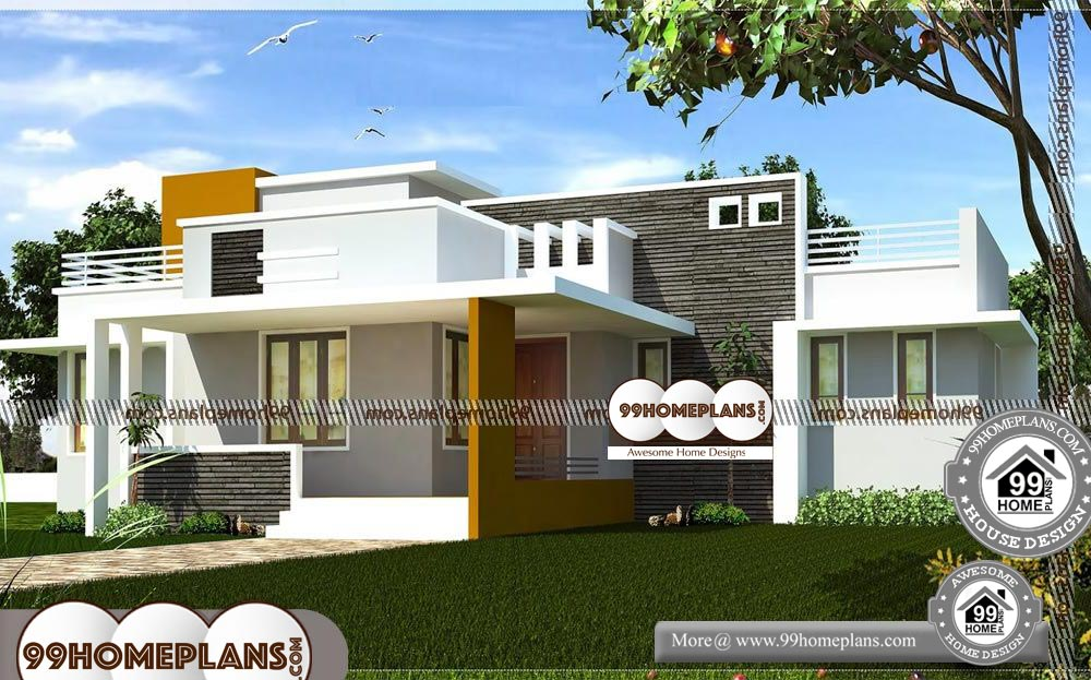 Single Floor House Front Design - One Story 2100 sqft-HOME