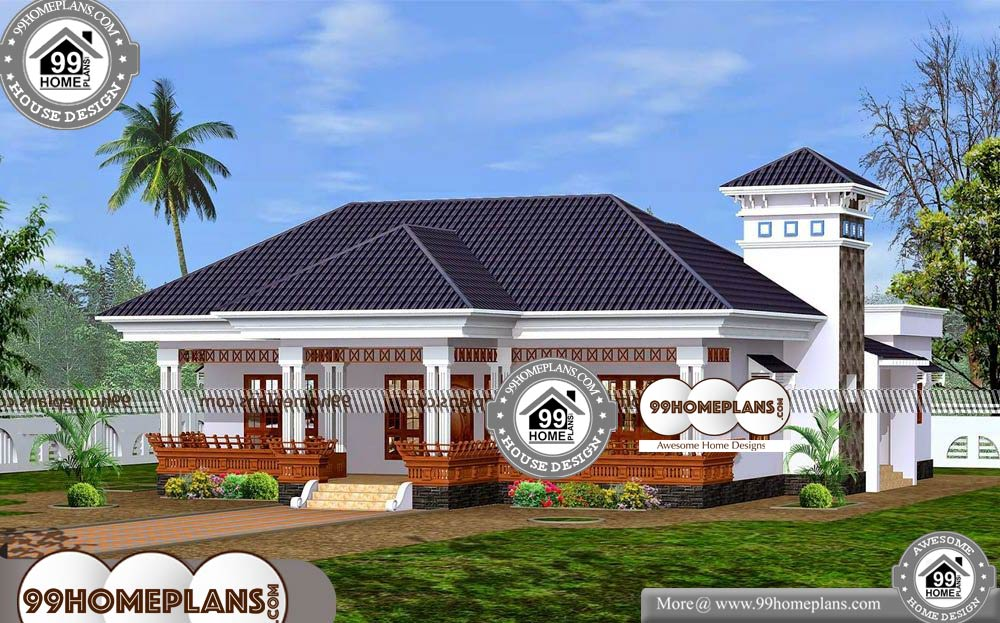 Single Floor House Plans Indian Style - One Story 2267 sqft-Home