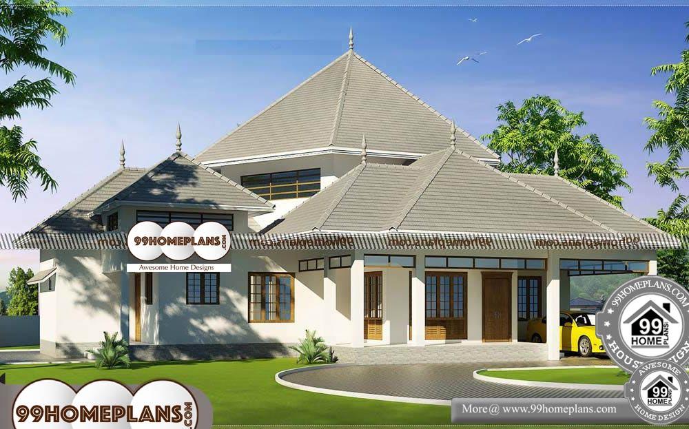 Single Level Modern House Plans - One Story 2600 sqft-HOME