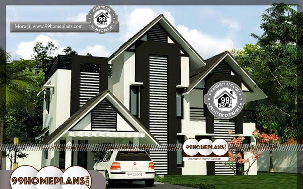 Small Economical House Plans - 2 Story 2250 sqft-Home