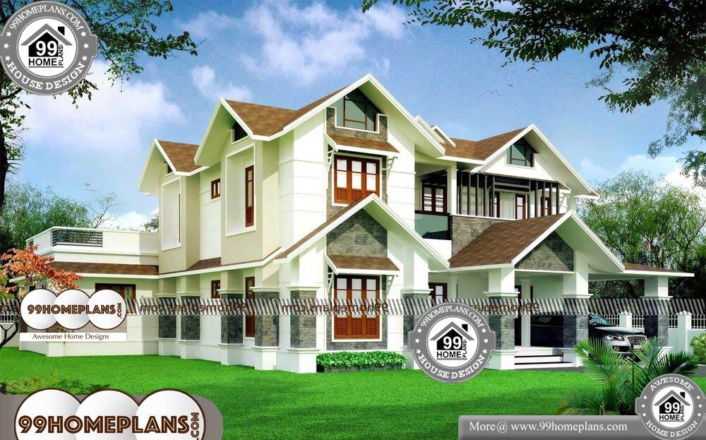 Small House Plans and Designs - 2 Story 4080 sqft-HOME