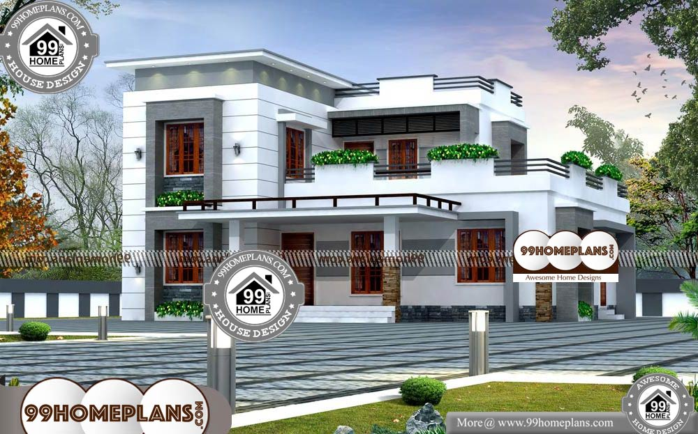 Small Luxury House Plans with Photos - 2 Story 2297 sqft-Home