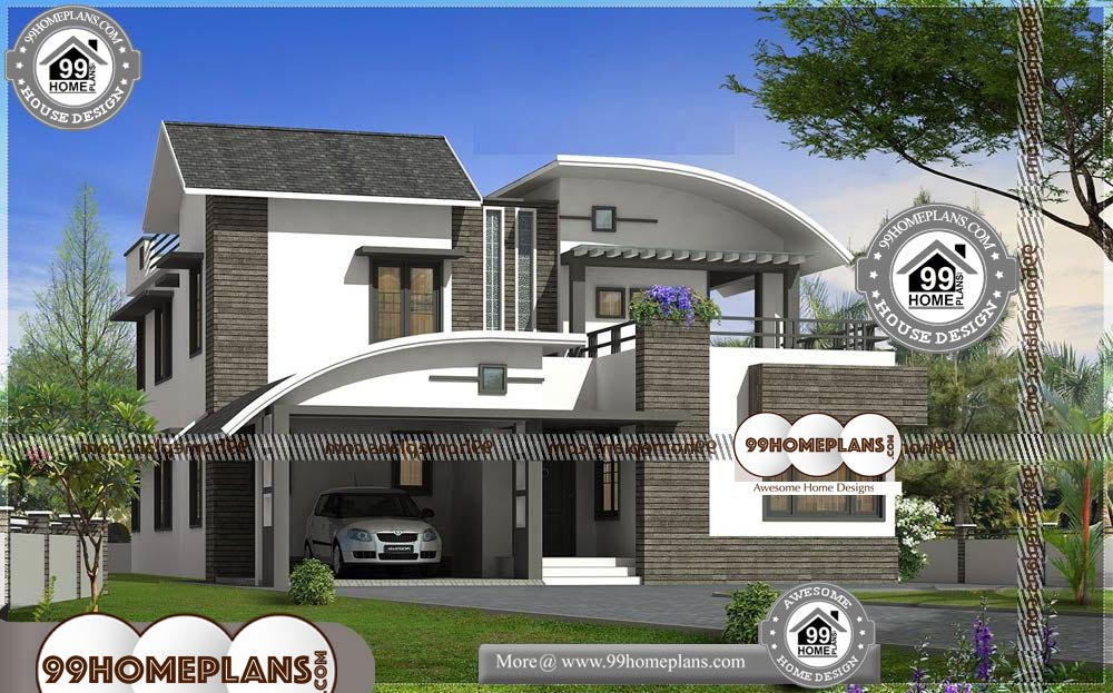 Small Modern Contemporary House Plans - 2 Story 3200 sqft- HOME